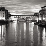 Golden Ponte Vecchio Black and White