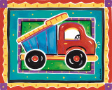 Camion à benne Reproduction d'art par Alison Jerry