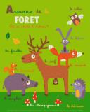 Les animaux de la forêt Reproduction d'art par Isabelle Jacque