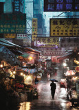 Market under the Rain  Honk Kong  c2009