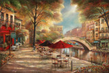 Riverwalk Café Reproduction d'art par Ruane Manning