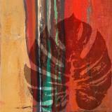 Red Horizon Leaf I Reproduction d'art par Patricia Quintero-Pinto