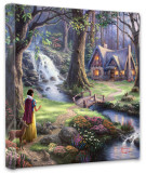 Snow White Discovers the Cottage (Wrapped Canvas)