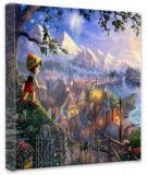 Pinocchio Wishes Upon A Star (Wrapped Canvas)