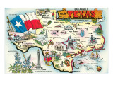Greetings from San Angelo  Texas  the Lone Star State  Map