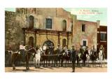 Hold-Up Re-enactment  Alamo  San Antonio  Texas