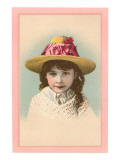 Victorian Girl in Straw Hat