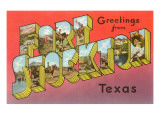 Greetings from Fort Stockton  Texas