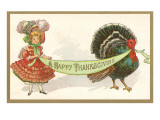 Turkey and Dressed-Up Girl