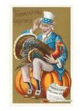 Greetings  Uncle Sam with Turkey