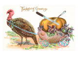 Greetings  Turkey Hauling Pumpkin
