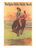 Buffalo Bill&#39;s Wild West Show Poster  Bucking Steer