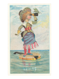 Victorian Girl on Floating Banjo