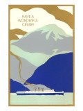 Art Deco Ocean Liner  Have a Wonderful Cruise