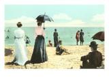 Old Fashioned Beach Scene
