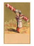Victorian Baker Boy with Giant Peppermint Stick