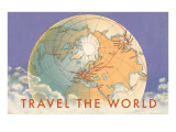 Travel the World  Globe with Routes