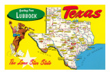 Greetings from Lubbock  Texas  Map