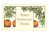 Hearty Wishes  Art Deco Pumpkins