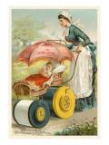Nursemaid Wheeling Pram
