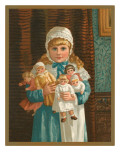 Victorian Girl with Dolls