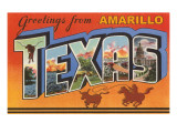 Greetings from Amarillo  Texas
