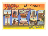 Greetings from McKinney  Texas