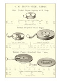 Advertisement for Steel Measuring Tapes
