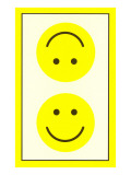 Yellow Opposed Happy Faces