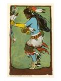 Buffalo Dance  Santa Fe Fiesta Illustration