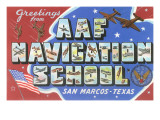 Greetings from AAF Navigation School  San Marcos  Texas