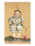 Baby Clown with Balloon on String