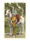 Cowgirl with White Horse
