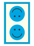Blue Opposed Happy Faces