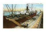 Loading Cotton on Ship  Houston  Texas