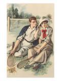 Vintage Tennis Couple