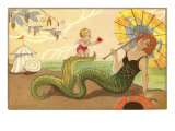Mermaid with Cupid