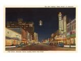 Night  Polk Street  Amarillo  Texas