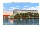 Parthenon and Lake  Nashville  Tennessee