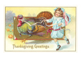 Greetings  Girl with Turkey