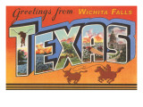 Greetings from Wichita Falls  Texas