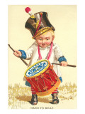 Little Boy Drumming Spool of Thread