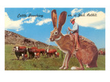 Cattle Punching on a Giant Jack Rabbit