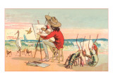 Painter on the Beach  Lobster Critics
