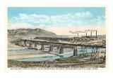 Railway Bridge over Rio Grande  El Paso  Texas