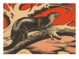 Woodcut of Otter