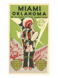 Miami  Oklahoma Travel Poster  Plains Indian  Route 66