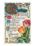 Vintage Greetings with Tulips