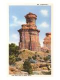 The Lighthouse Rock  Palo Duro Park  Texas