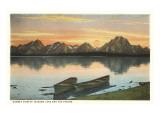 Jackson Lake and Tetons  Wyoming